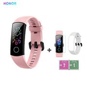 HONOR Band 5 Fitness Tracker HR Monitor AMOLED 0.95 Inch Smart Watch 5ATM (Pink)