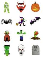 Best Price Kids Party Temporary Transfer Tattoos Horror Halloween 12 Packs
