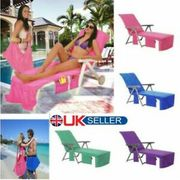 Sun Lounger Mate Beach Towel Carry with Pockets Bag