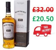 Bowmore No.1 Single Malt Scotch Whisky, 70cl FREE DELIVERY