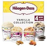 Haagen-Dazs Vanilla Collection Mini Cup Ice Cream (4x100ml)
