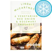 Linda Mccartney 6 Vegetarian Red Onion & Rosemary Sausages 300G