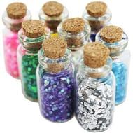 Mini Glitter Craft Jars - Set of 8