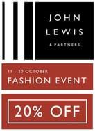 JOHN LEWIS FASHION EVENT - 20% off Coats / Jackets / Cashmere / Boots / Shoes