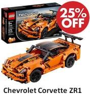 SAVE £10 at AMAZON - LEGO Technic: Chevrolet Corvette ZR1 (42093)