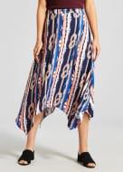 Rope Print Hanky Hem Midi Skirt