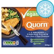 Quorn 2 Breaded Fishless Fillets Lemon & Pepper 200G £1.50 at Tesco