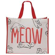 Puckator NWBAG45 Meow Design Shopping Bag FREE DELIVERY