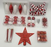 The Red & White Bauble 52pc Accessories Set