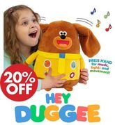 HEY DUGGEE Musical Duggee Soft Toy - Moving Ears, Lights, Sounds & Songs