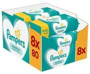 Pampers Sensitive Baby wipes, 8 x 80 packs = 640 wipes with £4 Discount!