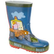 Peppa Pig George's Digger Children's Wellington Boots, Blue