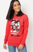 Red Mickey and Minnie Mouse Christmas Sweatshirt Only £16