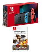 NINTENDO SWITCH NEON with OVERWATCH LEGENDARY EDITION Only £289