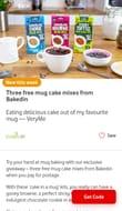 3x 3 Packs of Mug Cake