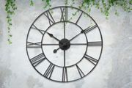 Cast Iron-Effect Roman Numeral Clock - 2 Sizes! 40cm £10.99, 60cm £16.99.