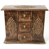 Mango Wood Jewellery Cabinet