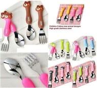 Children Cutlery Set High Grade Stainless Steel Animal Designs Children Gift