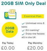 EE 20GB SIM Only Deal - Unlimited Mins and Texts