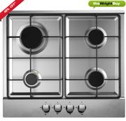 Stainless Steel Gas Hob Built-in 60cm & Auto Ignition Only £55.99