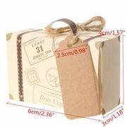 50Pcs Kraft Paper Mini Suitcase Favor Candy Box Supply Wedding Party Gifts Boxes