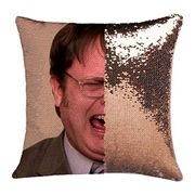 Funny Face Sequinned Pillowcase