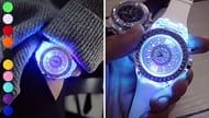 LED Multi-Colour Luminous Quartz Watch - 10 Colours