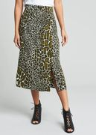 Giraffe Print Co-Ord Midi Skirt - Size 16