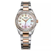 Rotary Ladies' Two-Tone Rose Gold Tone Bracelet Watch