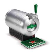 Beerwulf the SUB Heineken Edition UK Draught Beer Tap for Home by Krups 2L