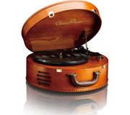 LENCO Classic Phono TT-34 Belt Drive Turntable - Cherry Wood + FREE Spotify