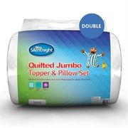Silentnight Quilted Jumbo Topper & Pillow Set (Double)