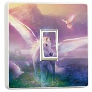 Unicorn Fantasy Fairytale Switch Sticker Kids Wall Art Home Bedroom Accessories