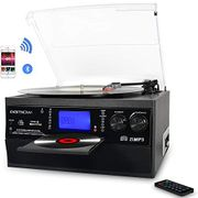 Bluetooth Viny Record Player Turntable, CD, Cassette, Radio and Remote Control