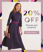 20% off Dresses and Jumpsuits