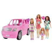 Barbie Limo and 4 Dolls