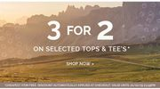 Hawkshead - 3 for 2 on Tops & Tee's This Weekend