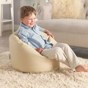 Toddler Bean Bag - Faux Leather, Cream