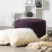 ICON Shoreditch Pouffe Footstool, Purple