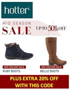 Hotter Shoes Sale - up to 50% off + EXTRA 20% OFF CODE