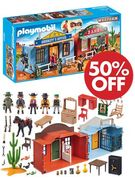 1/2 PRICE! save £20. Playmobil Take along Western City (70012)