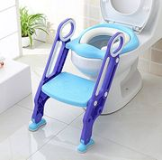 Potty Toilet Seat Adjustable Toddler Toilet Trainer with Step Stool Ladder