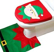 Elf Toilet Seat Cover and Mat Set in Polybag