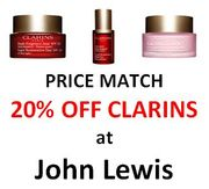 20% off CLARINS! - Price Match at John Lewis + BOBBI BROWN + CLINIQUE