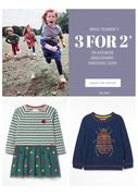 3 for 2 on Selected Kidswear