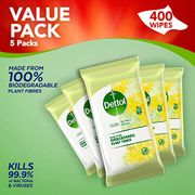 Dettol Wipes Biodegradable Citrus Antibacterial Multi Surface Cleaning