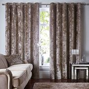 CosySleep Luxury Pair of Thermal Soft Crushed Velvet Curtains