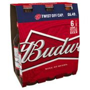 Budweiser X6 at Approved Food Down From £6.49 to £1.99