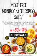 Huge Vegan Sale - up to 30% off Vegan Favourites!