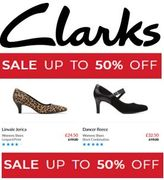 Clarks Shoe Sale - up to 50% Off